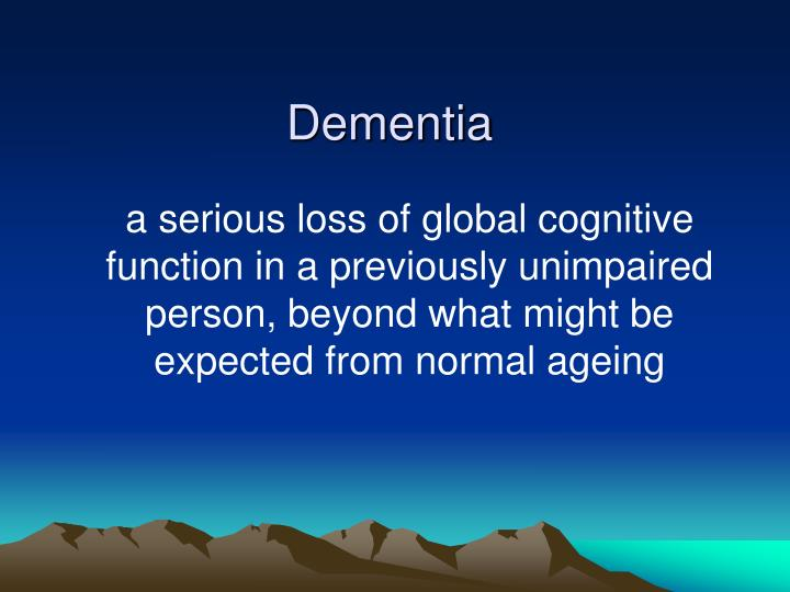 dementia presentation Dementia care: powerpoint presentation, ppt - docslides- a comprehensive exploration of certified nursing assistant training background research indicates that.