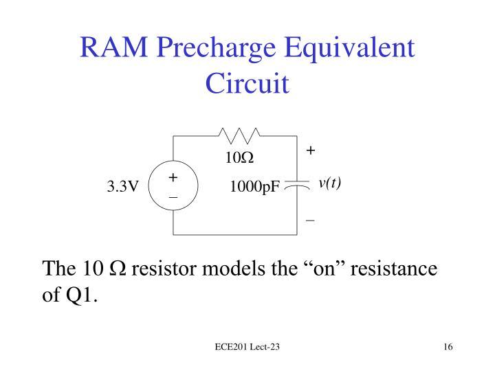 RAM Precharge Equivalent Circuit