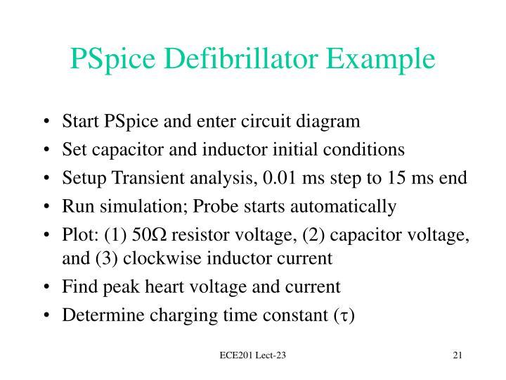 PSpice Defibrillator Example
