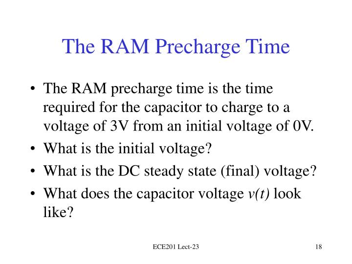 The RAM Precharge Time