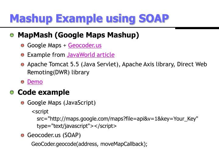 Mashup Example using SOAP