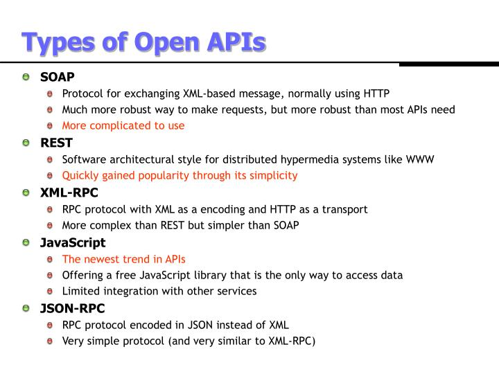 Types of Open APIs