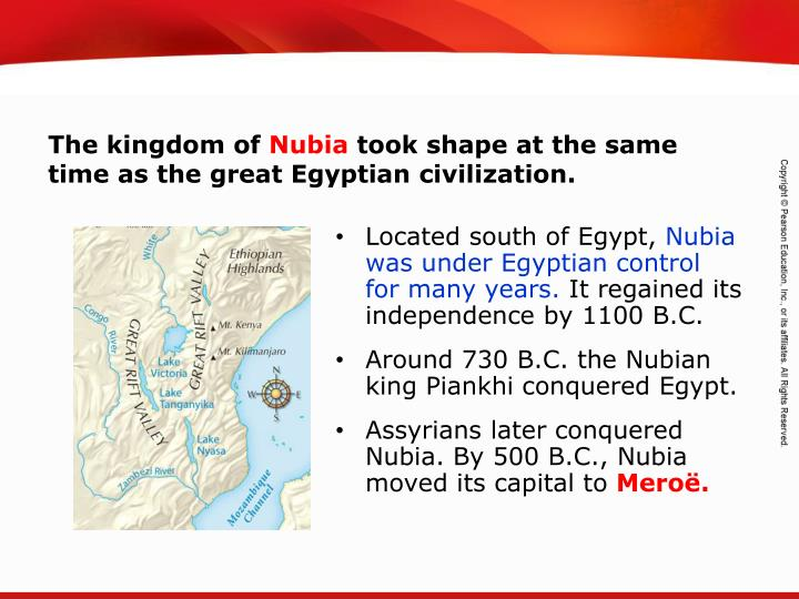 Located south of Egypt,