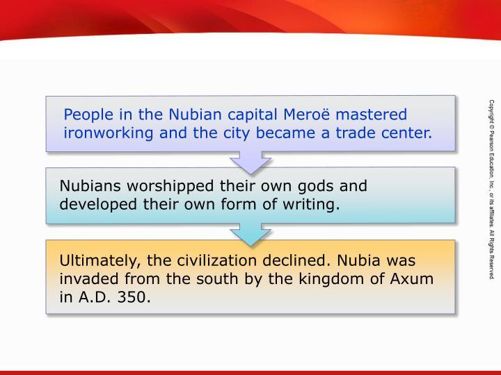 People in the Nubian capital