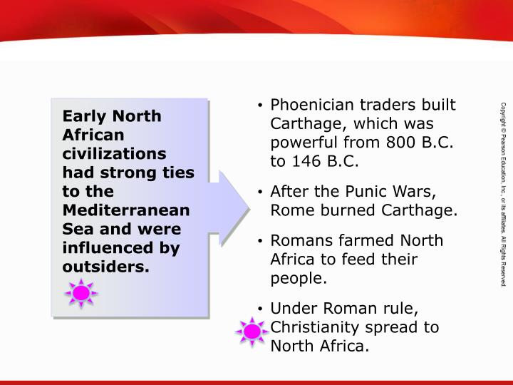 Phoenician traders built Carthage, which was powerful from 800 B.C. to 146 B.C.