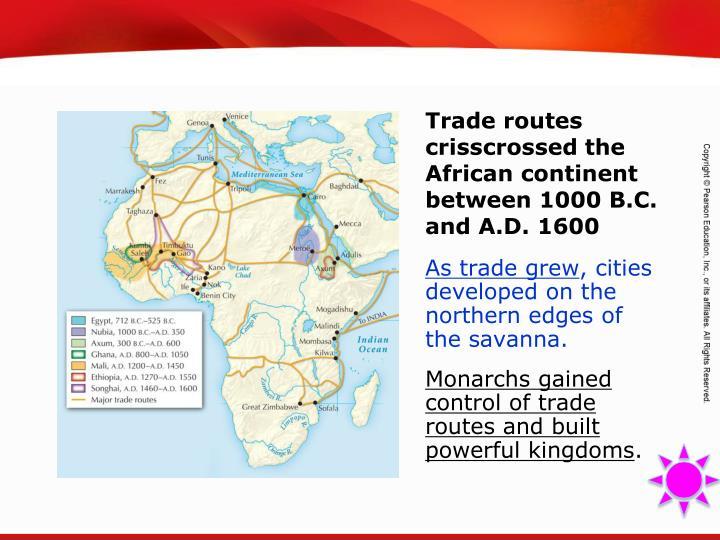 As trade grew