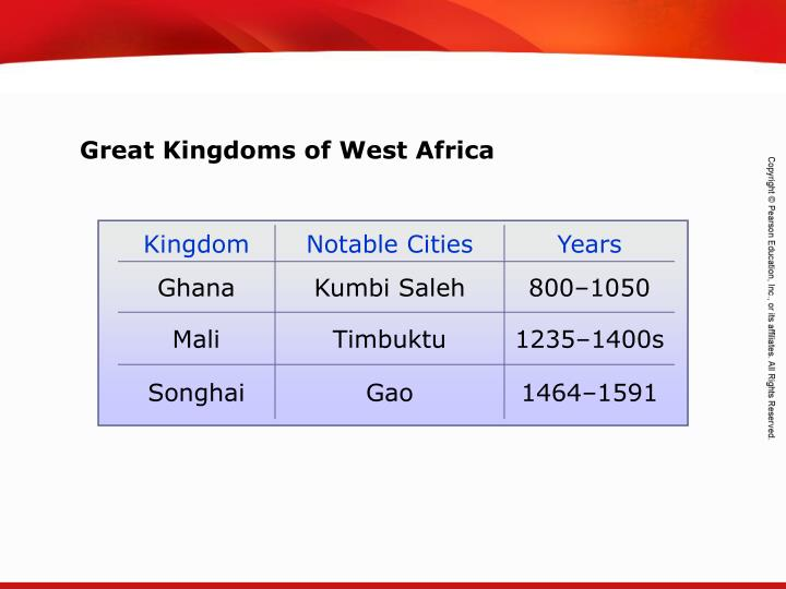 Great Kingdoms of West Africa