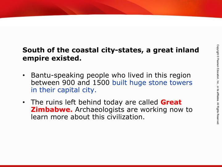 Bantu-speaking people who lived in this region between 900 and 1500