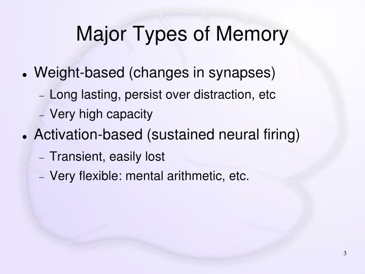 Major types of memory1
