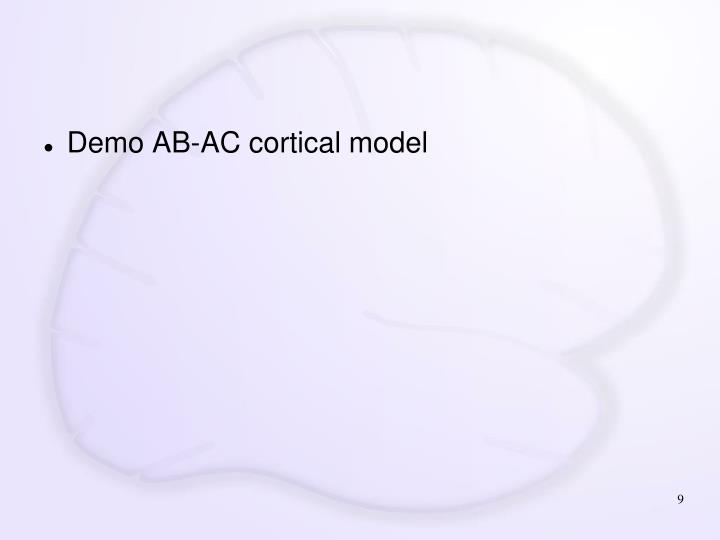 Demo AB-AC cortical model