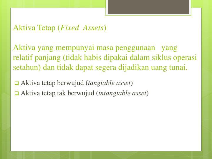 Aktiva Tetap (