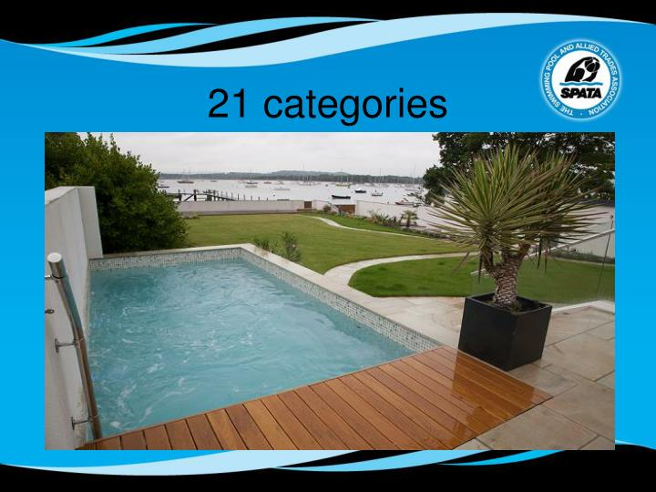 21 categories
