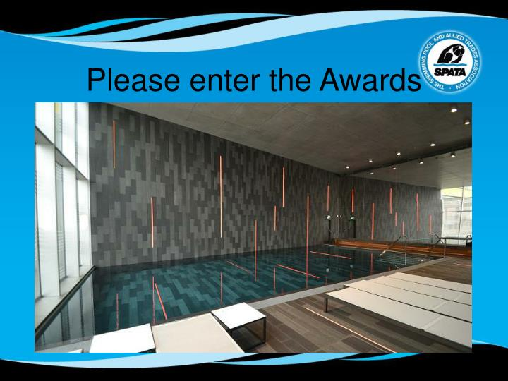 Please enter the Awards
