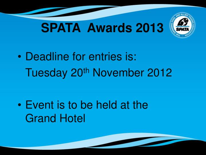 SPATA  Awards 2013