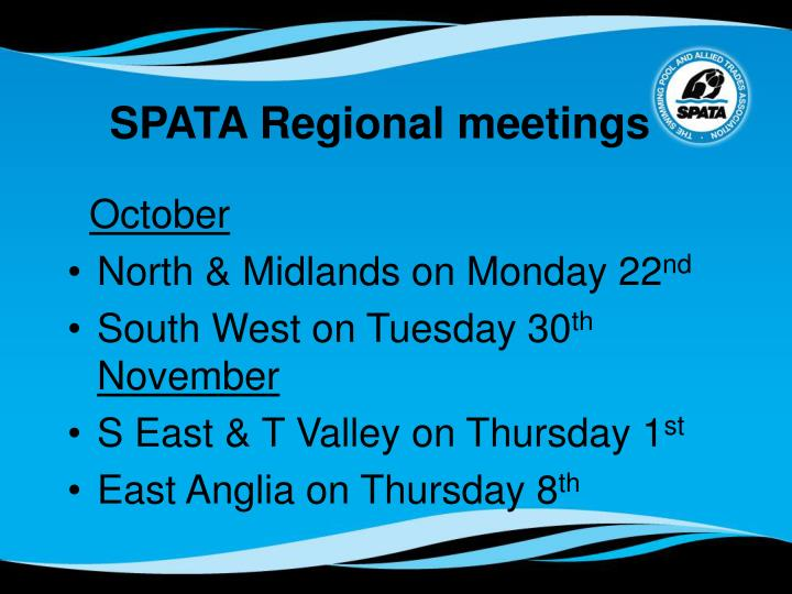 SPATA Regional meetings