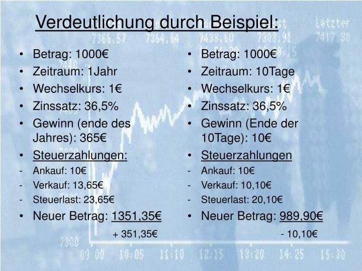 Betrag: 1000€