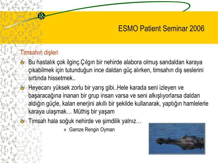 ESMO Patient Seminar 2006