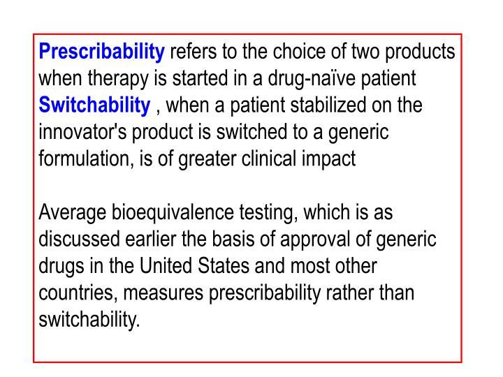Prescribability