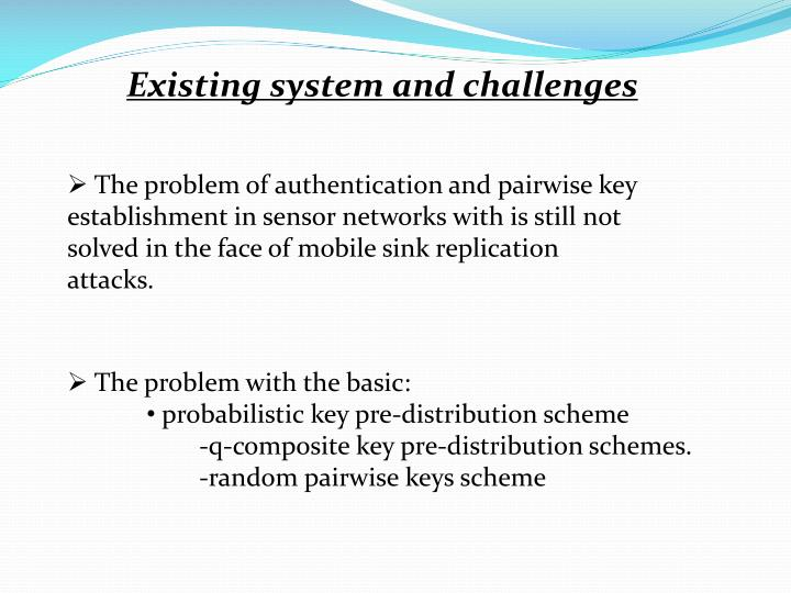 Existing system and challenges