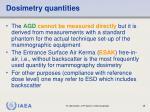 dosimetry quantities