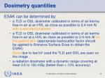 dosimetry quantities1