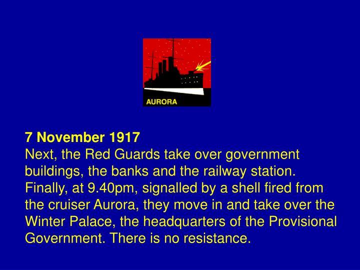 7 November 1917