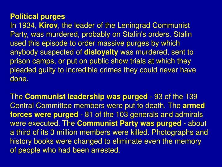 Political purges