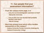 11 can people find your assessment information3