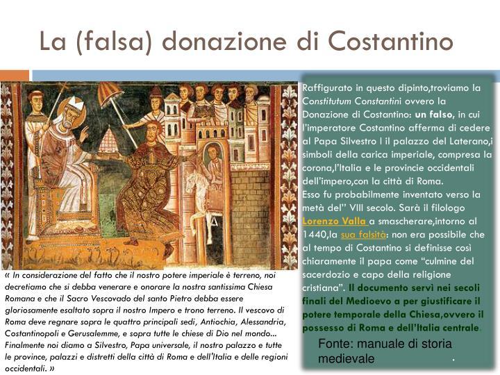 La (falsa) donazione di Costantino