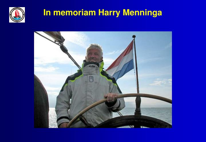 In memoriam Harry Menninga