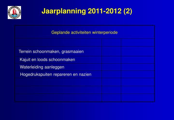 Jaarplanning 2011-2012 (2)