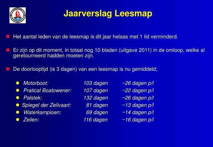 Jaarverslag Leesmap