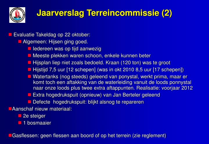 Jaarverslag Terreincommissie (2)