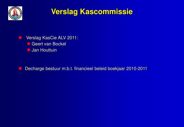Verslag Kascommissie