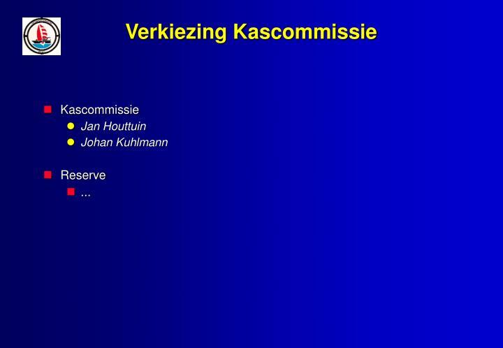 Verkiezing Kascommissie