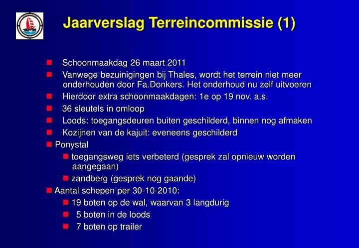 Jaarverslag Terreincommissie (1)