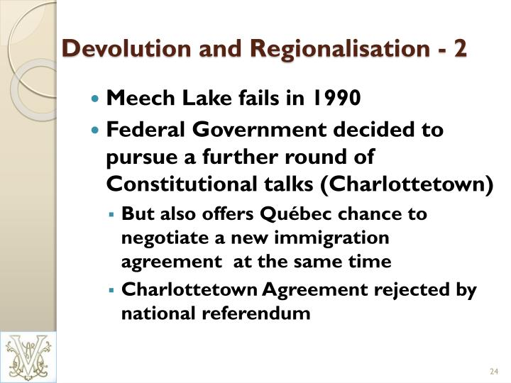 Devolution and Regionalisation - 2