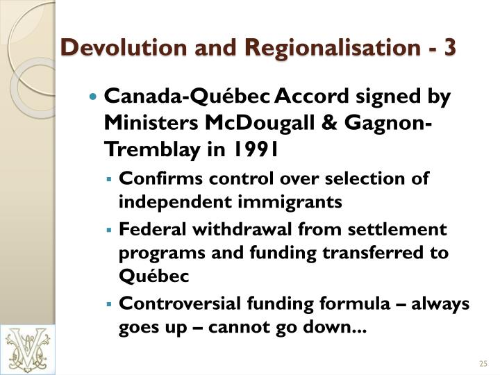 Devolution and Regionalisation - 3