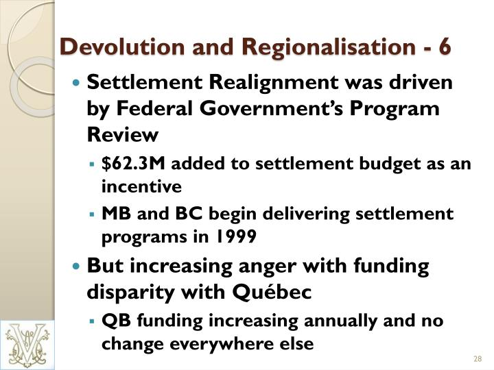 Devolution and Regionalisation - 6