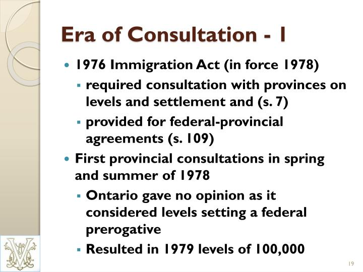 Era of Consultation - 1