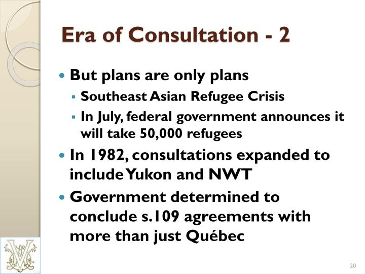 Era of Consultation - 2