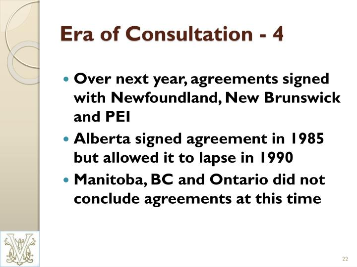 Era of Consultation - 4