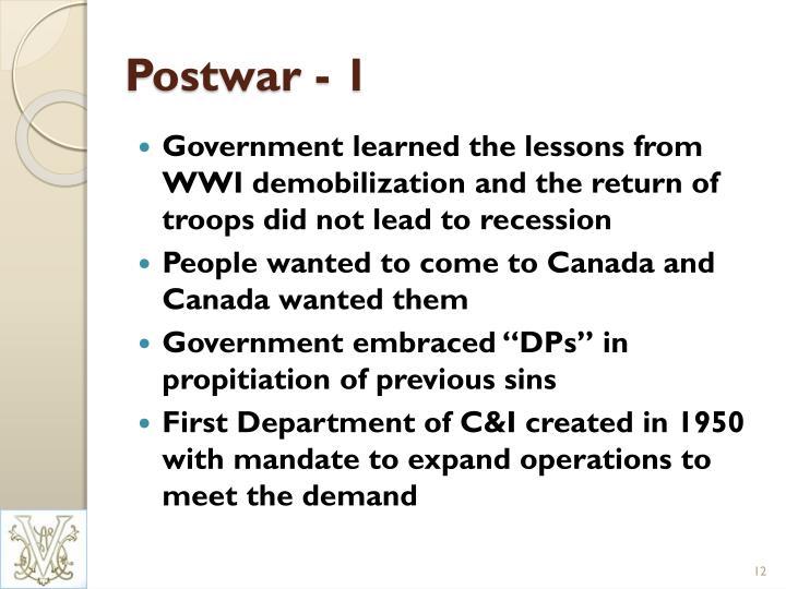 Postwar - 1