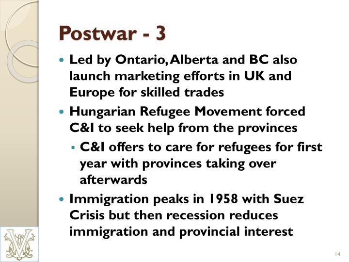 Postwar - 3