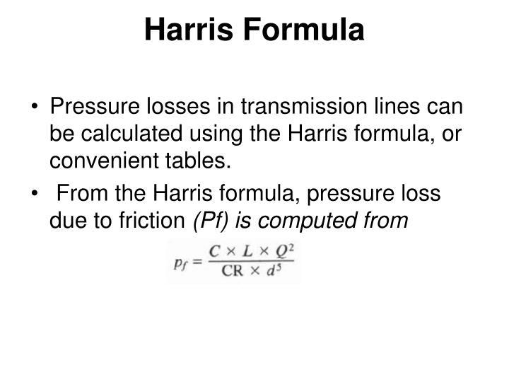 Harris Formula