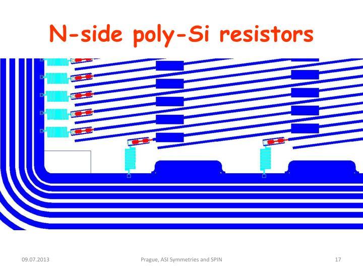 N-side poly-Si resistors