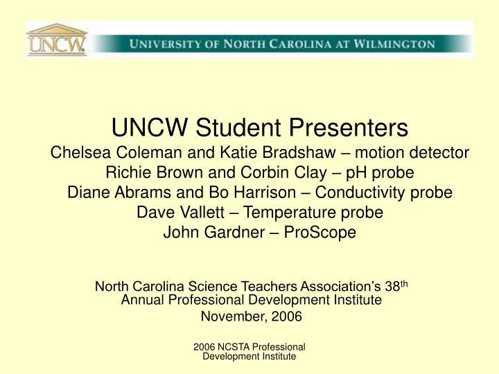 UNCW Student Presenters