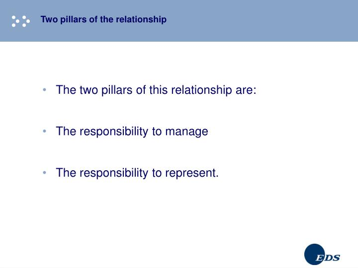 Two pillars of the relationship