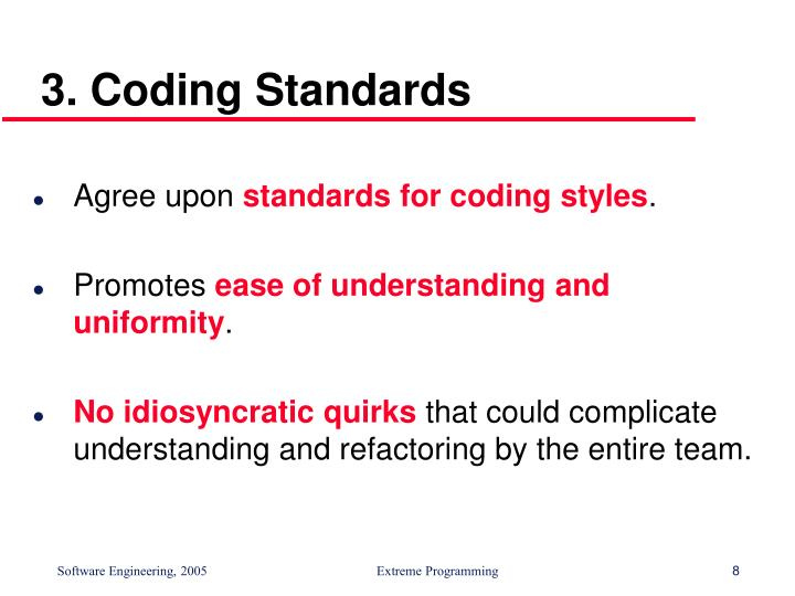 3. Coding Standards