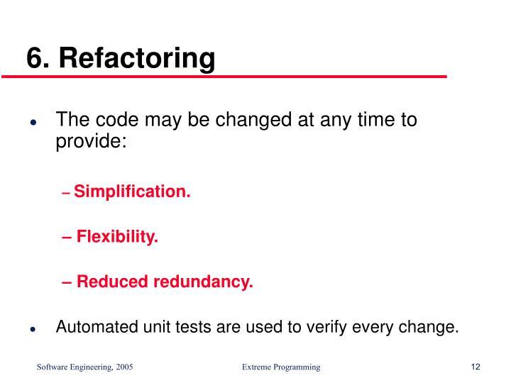 6. Refactoring